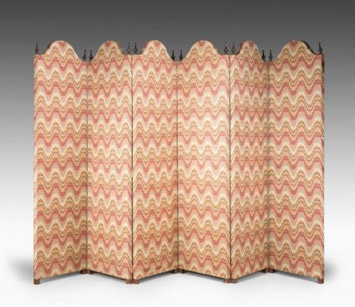 Mid 19th Century Six Fold Screen