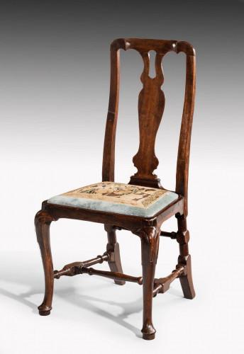 Queen Anne Period Walnut Single Chair of Elegant Shape