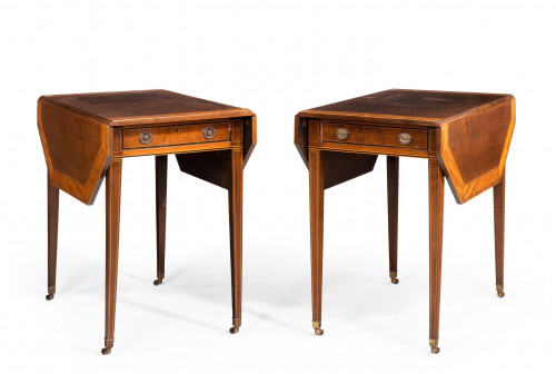 Pair of George III Style Mahogany Pembroke Tables by Gillows of Lancaster