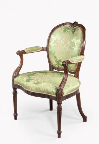 Hepplewhite Design Mahogany Framed Chair
