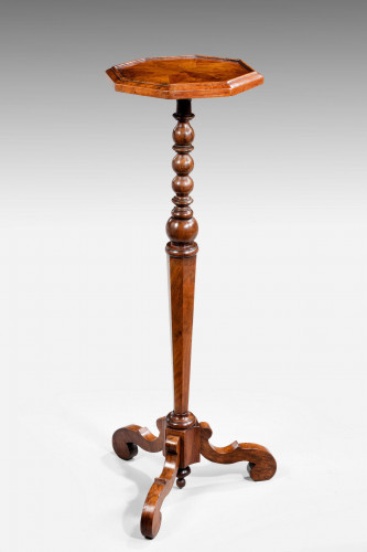 William and Mary Period Walnut Candle Stand
