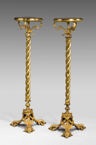 Pair of 19th Century Torcheres