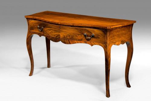 George III Period Serpentine Serving Table