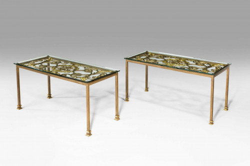 A Pair of Cast-Iron End Tables