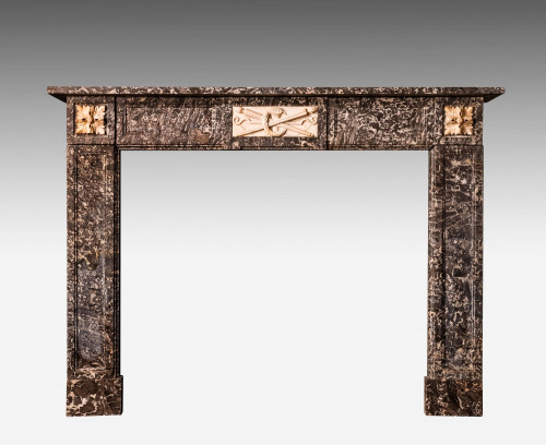 Late 19th Century Grey Marble Fireplace