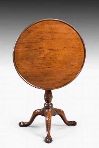 Mid 18th Century Mahogany Dish Top Tilt Table