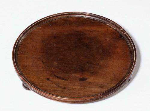 George III Period Mahogany Card Tray of Circular Form