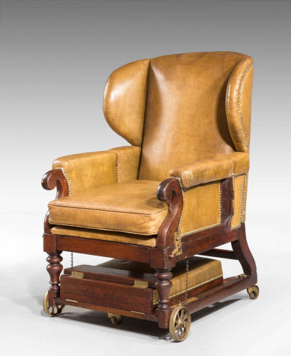 19th Century Invalids' Chair, Stamped J. Ward