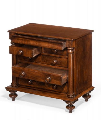 Mid 19th Century Mahogany Apprentice Piece
