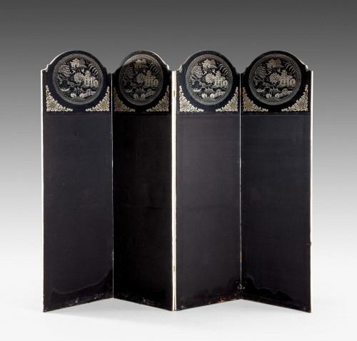 Art Deco Period Four Fold Screen.