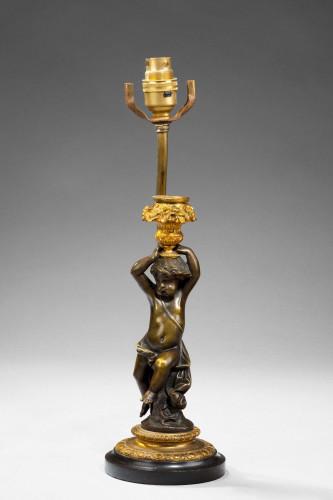 French 19th Century 'Putti' Lamp