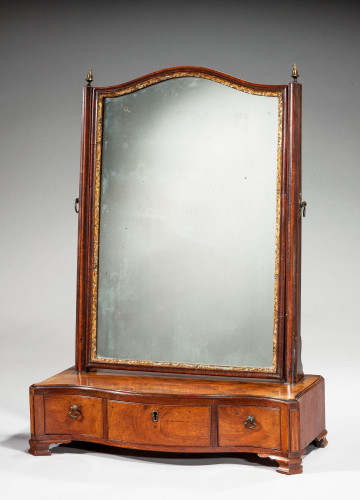 Chippendale Period Mahogany Dressing Mirror