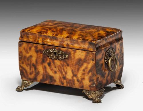 Regency Period Faux Tortoiseshell Tea Caddy