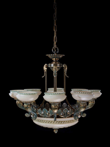 Early 20th Century Eight Arm Chandelier.