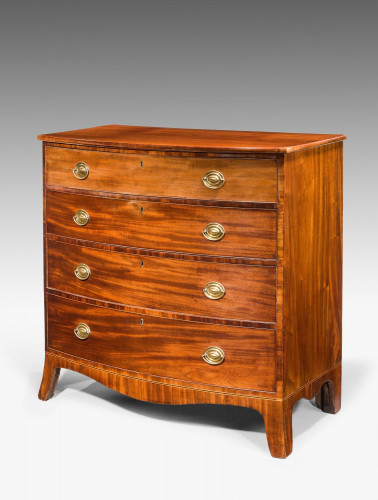 A George III Period Mahogany Bow Front Chest of Drawers