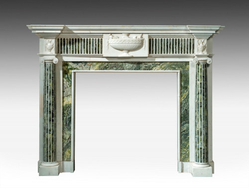 Early 19th Century Marble Fireplace