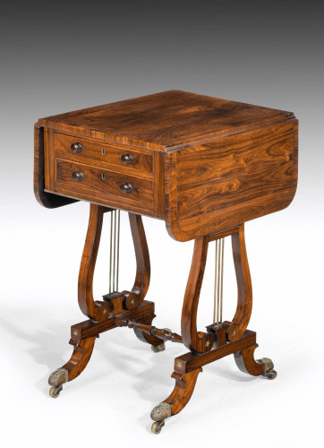 Regency Period Rosewood Table of Small Proportions.
