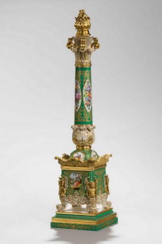 A 19th Century Jacob Petit Porcelain Column