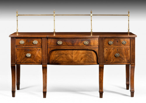 Regency Period Mahogany Sideboard with Brass Gallery