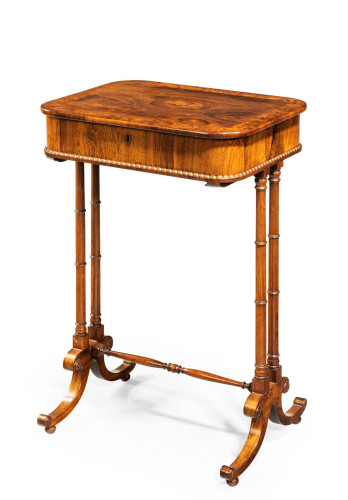 Early 19th Century Rosewood Work Table with a Superbly Figured Top