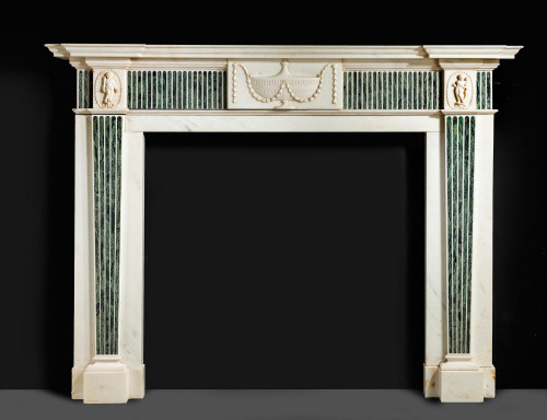 George III Neoclassical Marble Fireplace