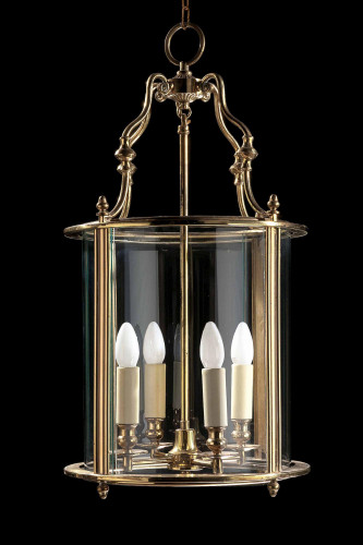 Early 20th Century Gilt Bronze Lantern