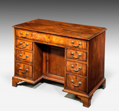 George III Period Mahogany Kneehole Desk