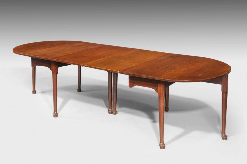 Early George III Period Mahogany Dining Table.