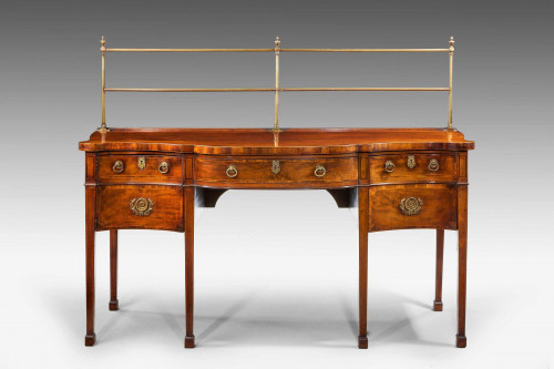 George III Period Serpentine Mahogany Sideboard