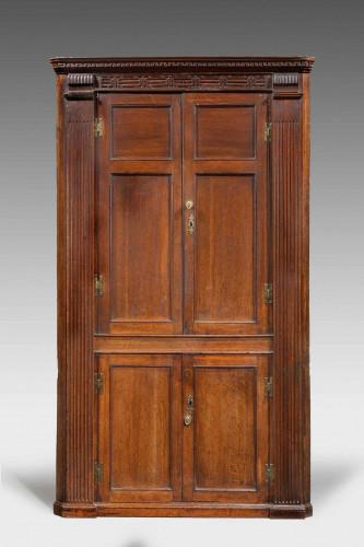 George III period Oak Corner Cupboard