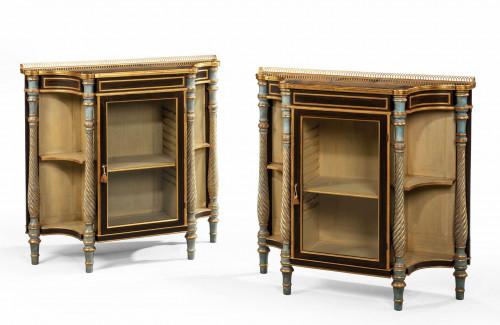A Rare Pair of Late Regency Mahogany Side Cabinets