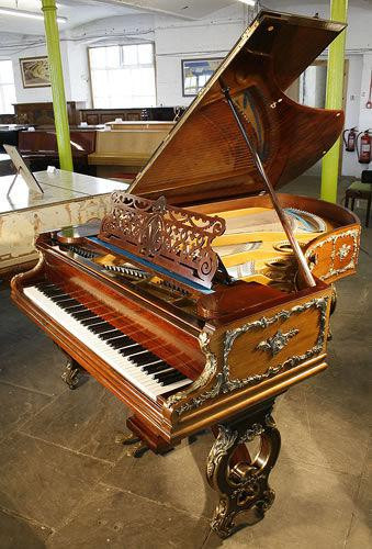Bechstein Grand Piano with a Rococo Style Walnut Case and  Ormolu Mounts
