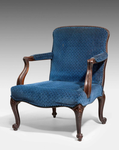 Late 19th Century Mahogany Framed Gainsborough Armchair