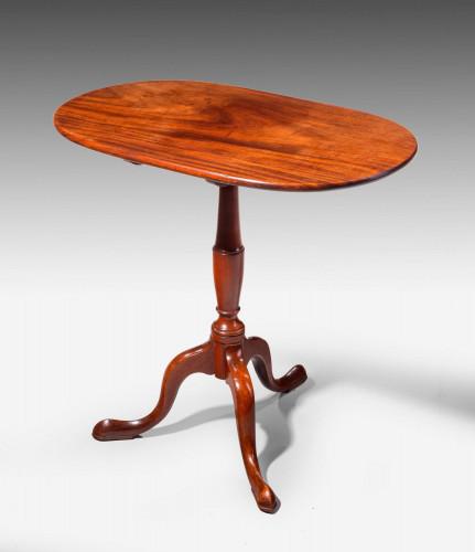George III Period Mahogany Tilt Top Table