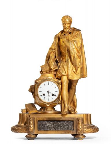 A Very Fine Quality 19th Century  Gilt Bronze and Bronze Mantel Clock