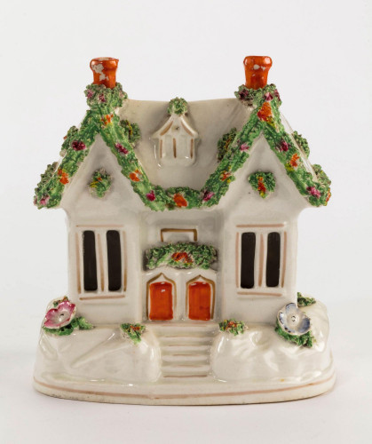 Late 19th Century Staffordshire Pottery Pastille Burner