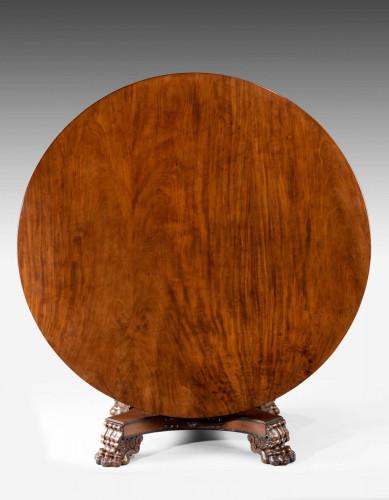 Regency Period Mahogany Large Circular Table