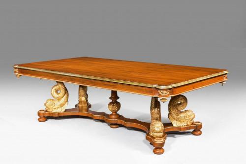 A Rare 19th Century Mahogany and Parcel Gilt Centre Table