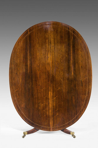 George III Period Mahogany Oval Dining Table