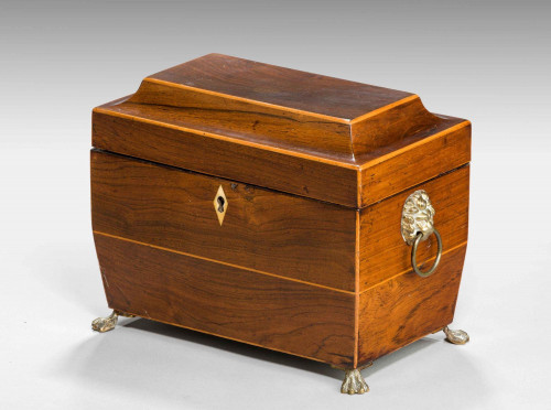 Regency Period Rosewood Tea Caddy