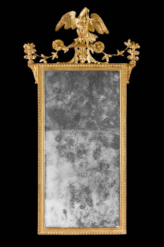 A Late 18th Century Giltwood Carved Mirror