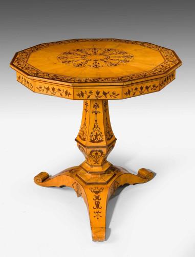 Charles X Period Satin Birch Centre Table.