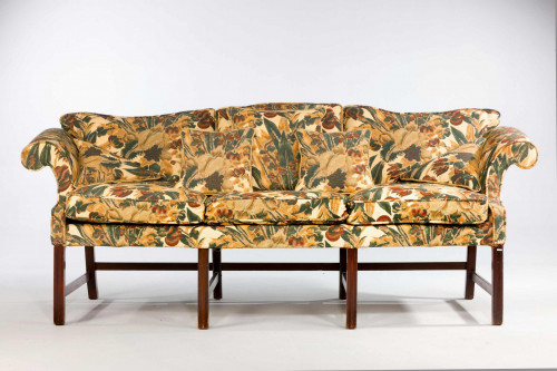 Chippendale Period Camel Back Sofa