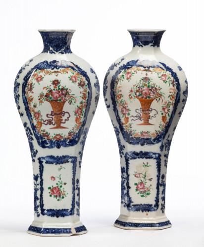 Pair of Mid 18th Century Qianlong Period Vases