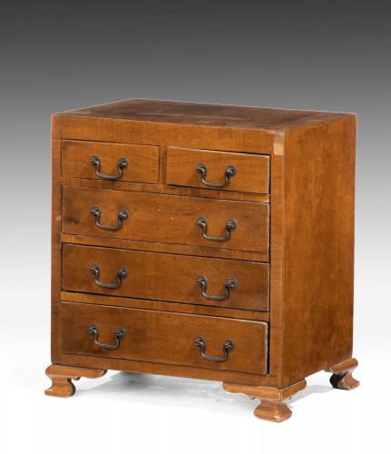 Early 20th Century Miniature Walnut Apprentice Piece