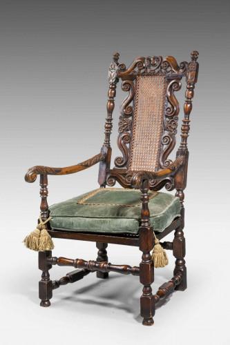17th Century Style Walnut Armchair