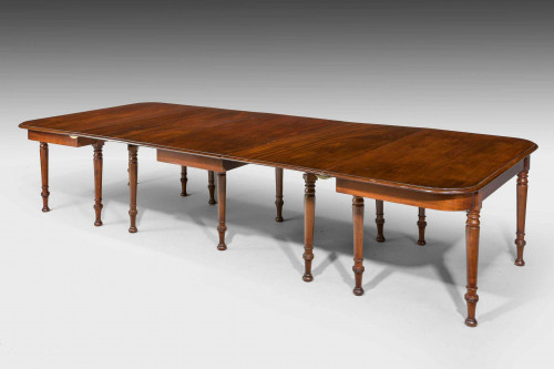 Late Regency Period Three Part Dining Table.
