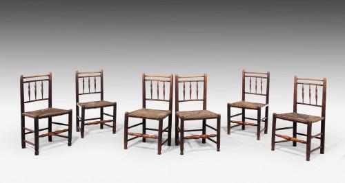 Set of Six George III Period Spindleback Chairs