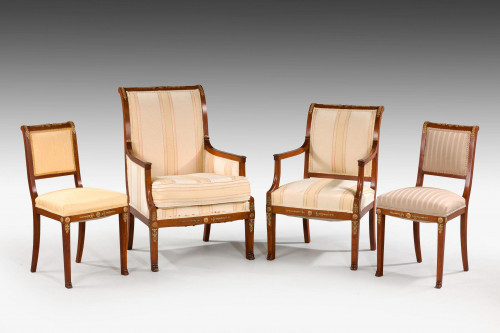 Set of Four 19th Century French Side Chairs