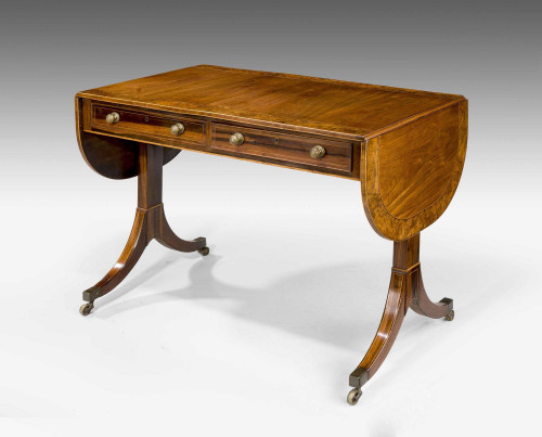 Regency Period Mahogany Sofa Table of Shallow Proportions